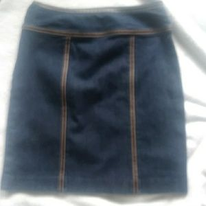 Michael kors blue jean skirt. With brown leather t